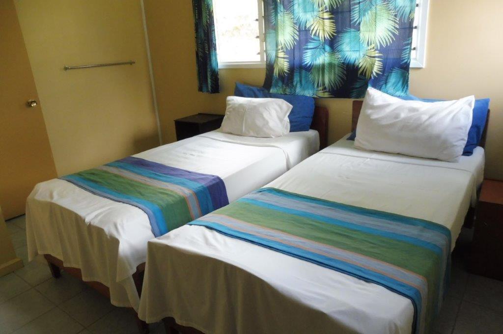 The second bedroom of the Beach House at Daku Resort, Savusavu.