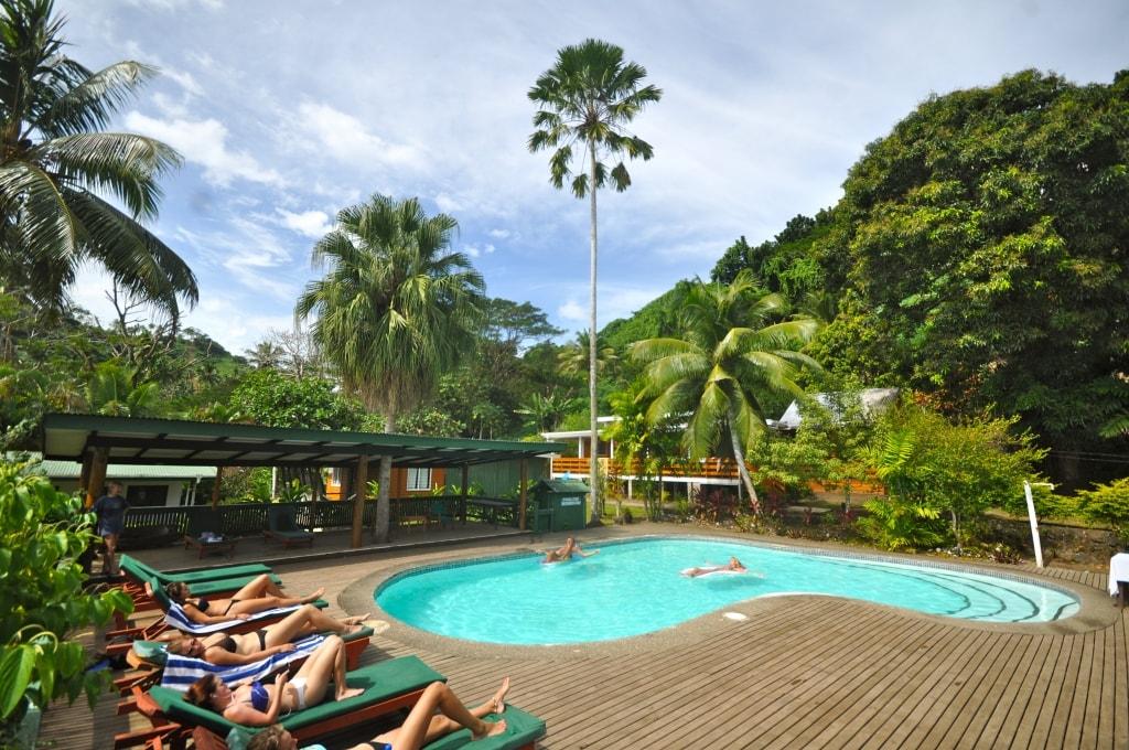 The main resort pool at Daku Resort, Savusavu.