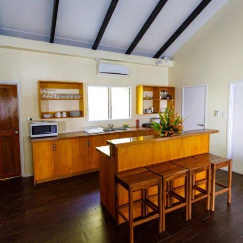 The kitchen of the Infinity Villa at Daku Resort, Savusavu.