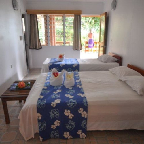 The second bedroom of the Pool House at Daku Resort, Savusavu.