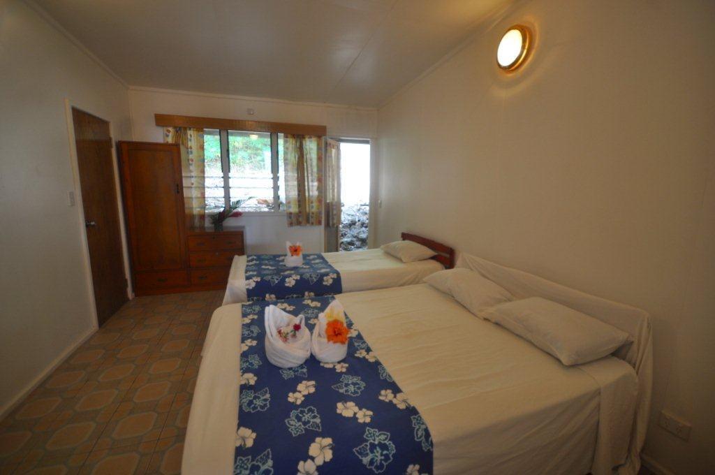 The fourth bedroom of the Pool House at Daku Resort, Savusavu.